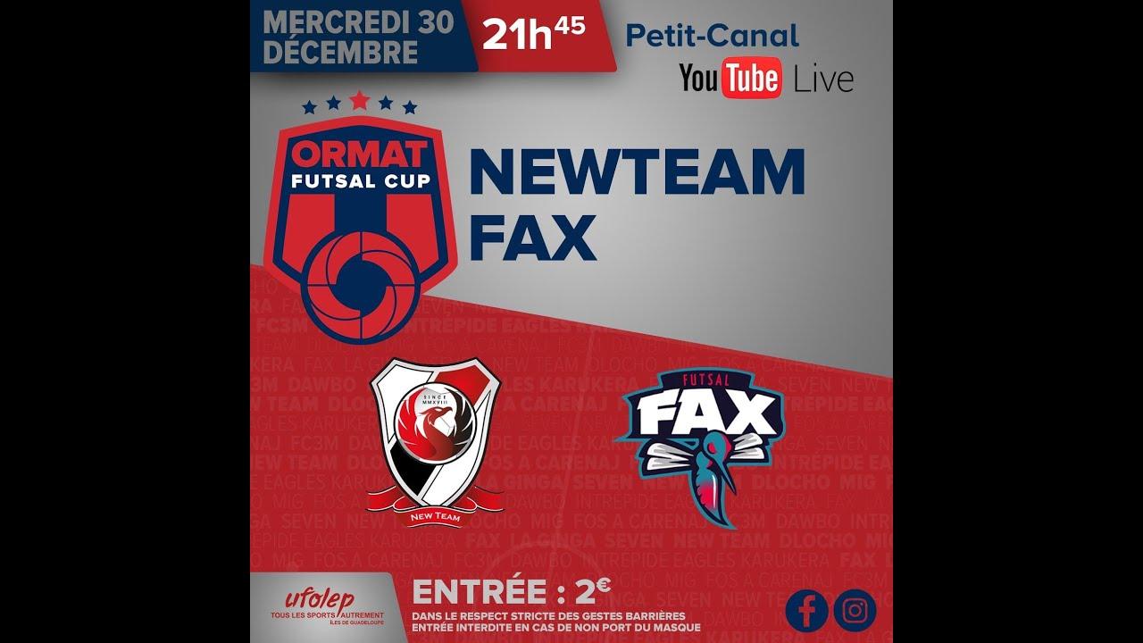 Ormat Futsal Cup by Ufolep Guadeloupe 1/2 finale NEWTEAM vs FAX .30 décembre 2020