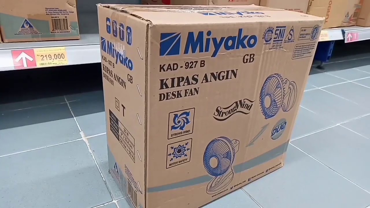 Review  U0026 Unboxing Kipas Angin Miyako 927 B
