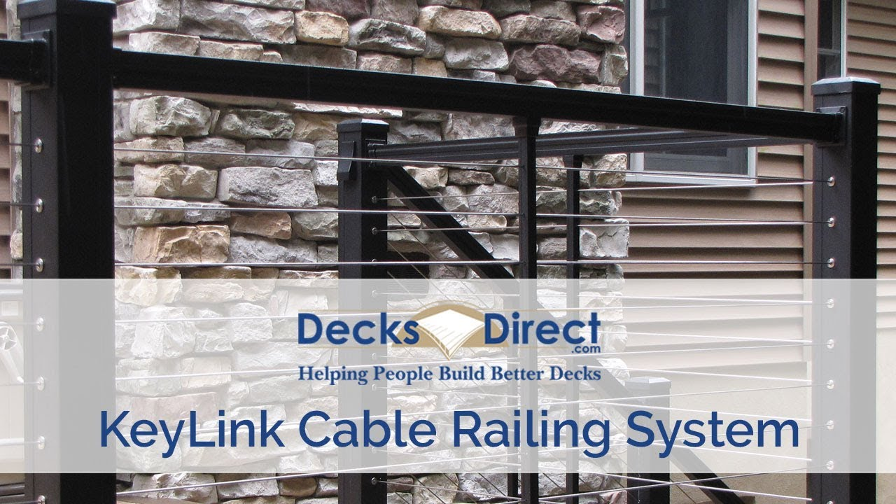 keylink cable railing system youtube interior cable railing