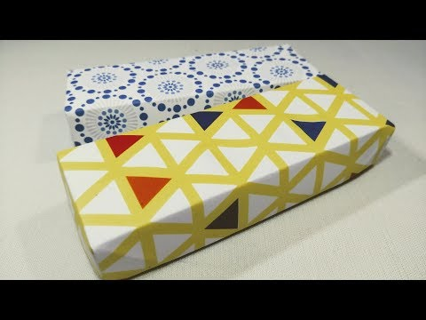 DIY Easy Pencil Box with Paper||Easy Origami