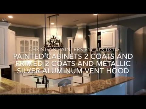 Painted Cabinets 2 Coats And Primed Coatetallic Silver Aluminum Vent Hood