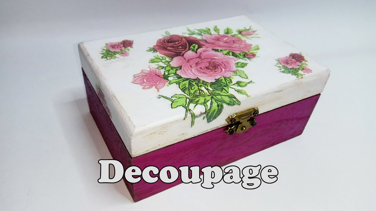 cajita de madera decorada con decoupage youtube