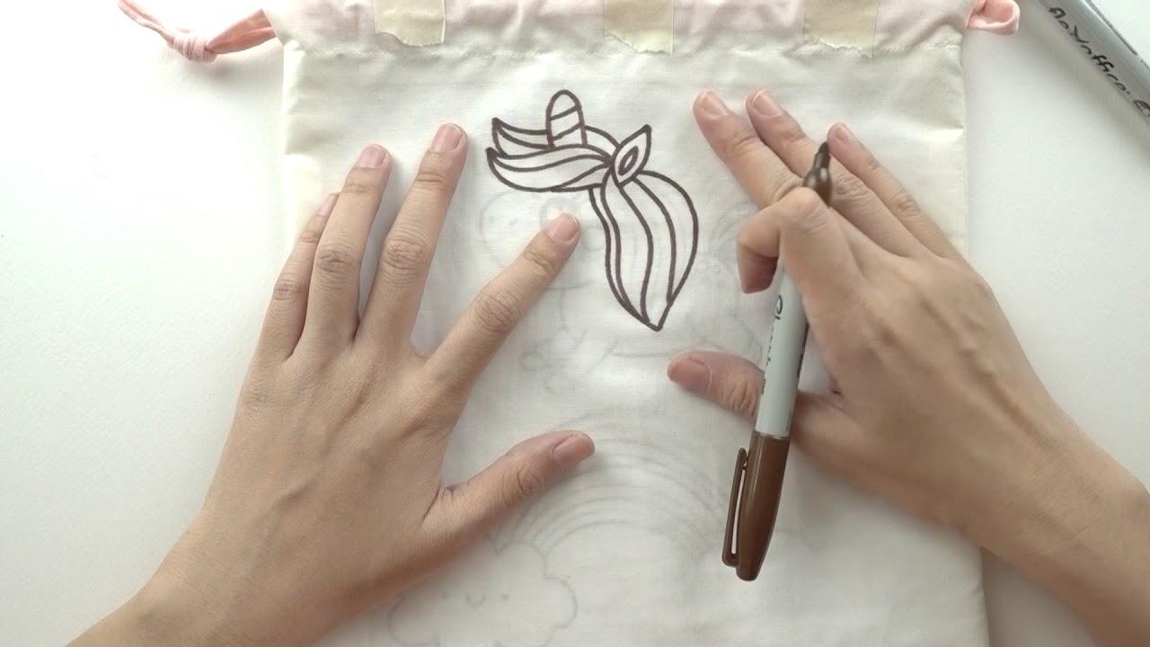 เพ้นท์กระเป๋าผ้า ถุงผ้าเอง ด้วยปากกา Marker Sharpie