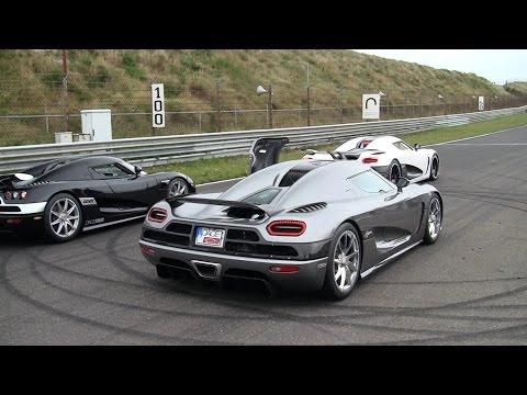 Koenigsegg Madness! 2x Agera R, 2x CCXR, 4x Carrera GT, Zonda S Loud Revving!!