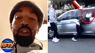 JR Smith DESTROYS An LA Protestor For Breaking His Car Window!