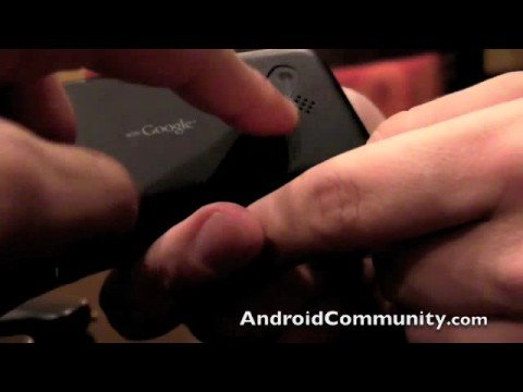 T-Mobile G1 Hardware walkthrough