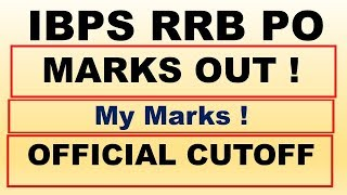 My Marks in IBPS RRB PO Prelims Official Cutoff Released | IBPS RRB PO Prelims Statewise Cutoff 2018