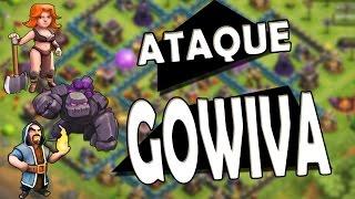 Clash of Clans - COMO CONSEGUIR 3 ESTRELAS GOWIVA CV8/TH8