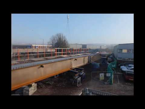 Bristol Guided Busway - Skew Bridge Construction Time Lapse 1