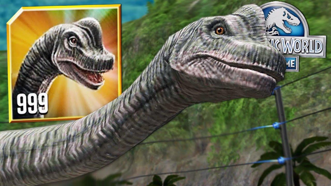 new brachiosaurus level 999 🦕 jurassic world the game