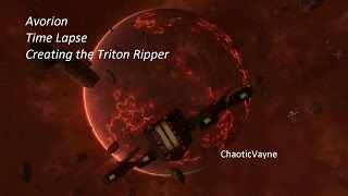 Avorion - Time Lapse - Creating the Triton Ripper