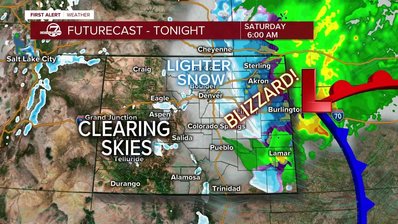 Denver weather: Cold front moves in overnight, turning rain to snow ...