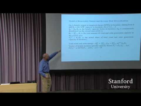 Frank Wolak  A portfolio approach to managing reliability risks in renewable energy investments