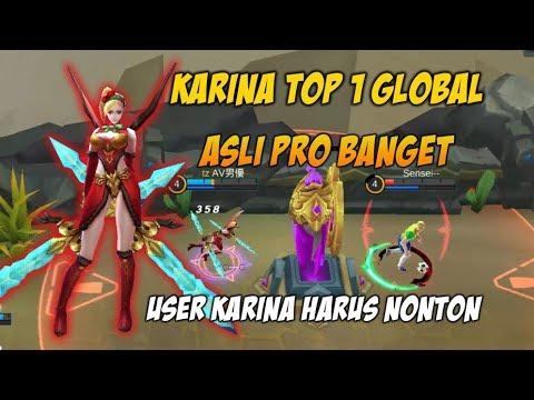 Ini Baru Karina Pro player Top 1 Global Musuh Sampai Nyerah Asli Galak Banget