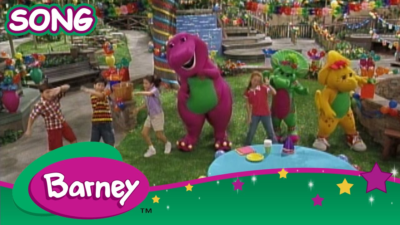 barney the green grass grows all around song youtube