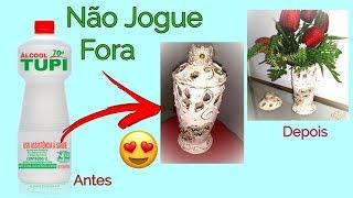 Como Fazer um Lindo Vaso Decorativo Reutilizando Garrafas Plásticas/ PLASTIC BOTTLES REUSING