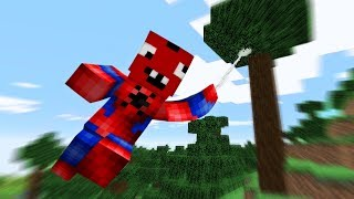 Minecraft, But You Are Spiderman