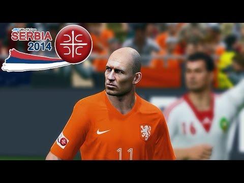 Holland vs. Morocco | jmc World Cup Serbia 2014 | Pro Evolution Soccer 2014 (PES 2014)