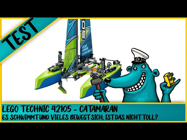 Was kann schwimmen? Ja, ein Schiff, so wie dieser wunderbare Lego Technic Catmaran (42105)!