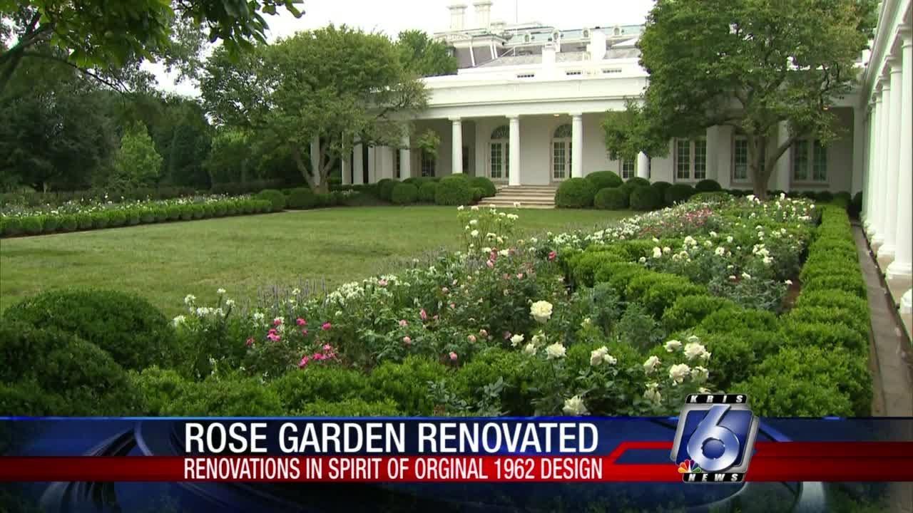 White House S Rose Garden Renovation Unveiled On Saturday Youtube