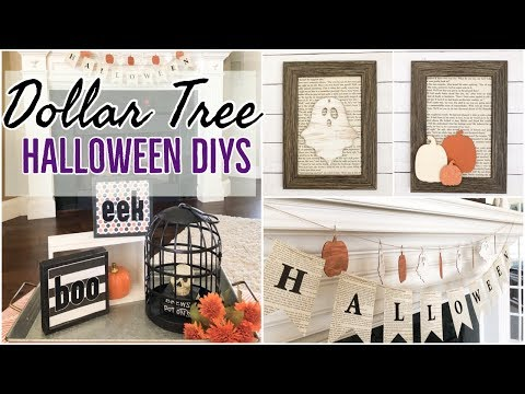 FARMHOUSE HALLOWEEN DECOR | DOLLAR TREE DIY
