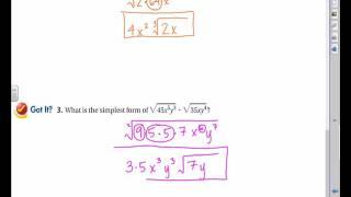 6 2 Multiplying aฑd Dividing Radical Expressions