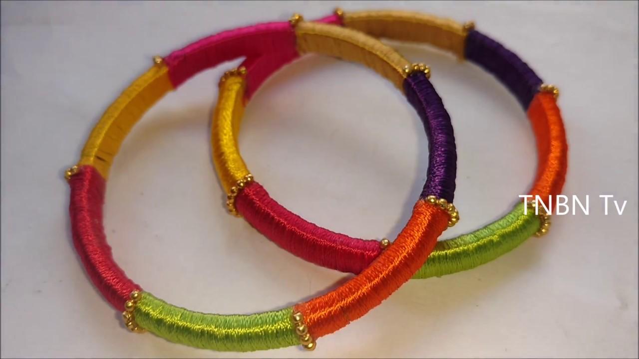 how to make raw silk bangles