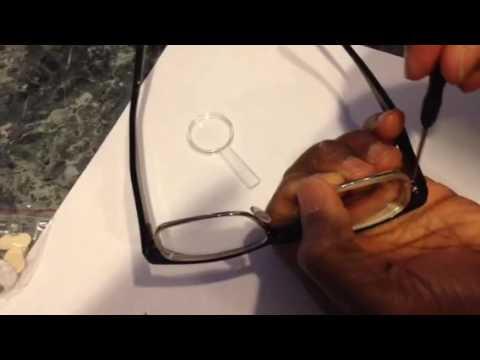 How to fix : Repair Eyeglasses missing Lens Screw