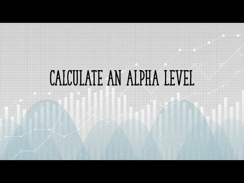 How to calculate an alpha level