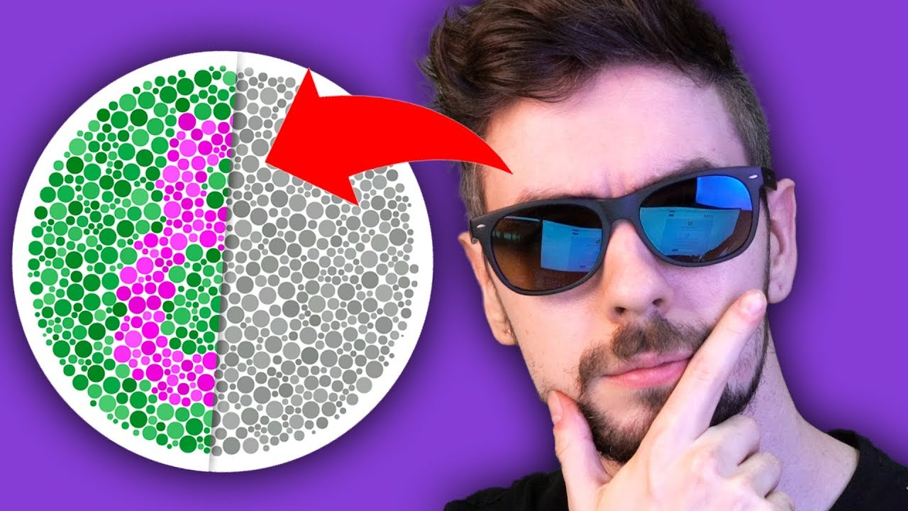 Taking A Colour Blind Test With Colour Blind Glasses - YouTube