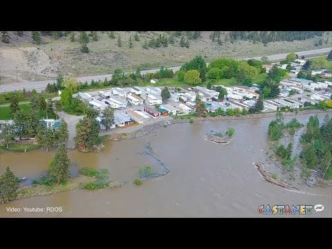 RAW: Drone footage of Lower Similkameen flooding.