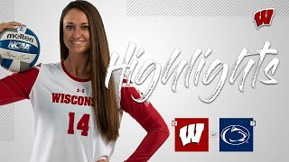 Wisconsin Volleyball || Highlights vs Penn State