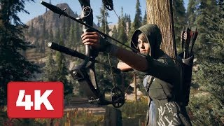 16 Minutes of Far Cry 5 Gameplay - A Dish Served Cold Mission (4K 60fps)
