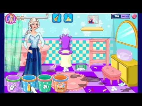 Игра «Уборка принцесс Дисней» — игры для девочек на