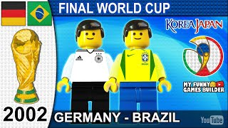 World Cup Final 2002 Germany vs Brazil 0 2 in Lego Brasil campeón All Goals Highlights Lego Film