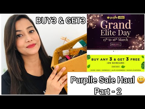 purplle.com-sale-haul-|-buy3-get3-offer-😍-|-skincare,-haircare-&-makeup-mix-haul-|