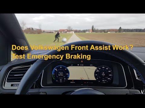 Does Volkswagen Front Assist Work? Test Emergency Braking !⛔⛔⛔