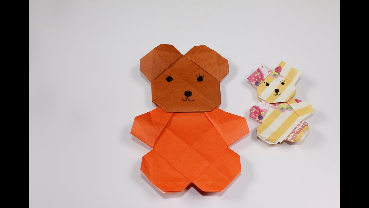 Origami Teddy Bear | Cute origami, Origami patterns, Paper crafts ... | 720x1280