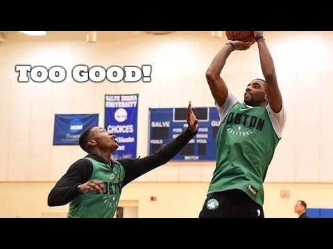 Kyrie Irving Schools Celtics Players 1 on 1! Shows the Full Package