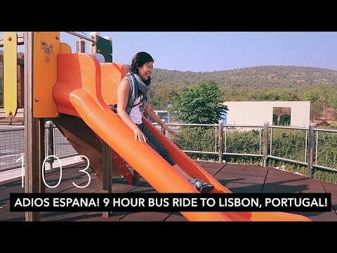 HOW BAD WAS IT?? 9 HOUR BUS RIDE TO Lisbon, PORTUGAL! | JOURNEY VLOG | VLOG 103