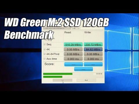 Wd Green M 2 Ssd 120gb Benchmark Wds120g1g0b Youtube