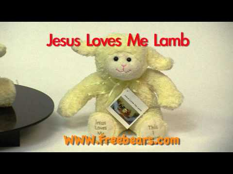 Jesus Loves Me Stuffed Lamb, Available at FreeBears.com