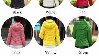 Womens Parkas Thicken Outerwear solid hooded_hofago.com