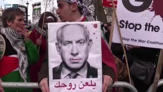 مصر العربية   بريطانيون يتظاهرون في لندن احتجاجًا على زيارة نتنياهو