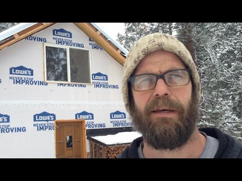 Mountain Dream Home #32: Rocket Mass Heater -- Is it Working?