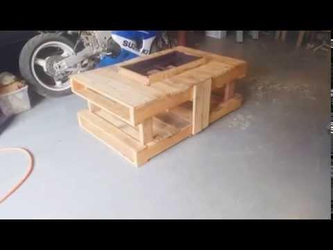 Pallet Firepit - Pallet Firepit - YouTube