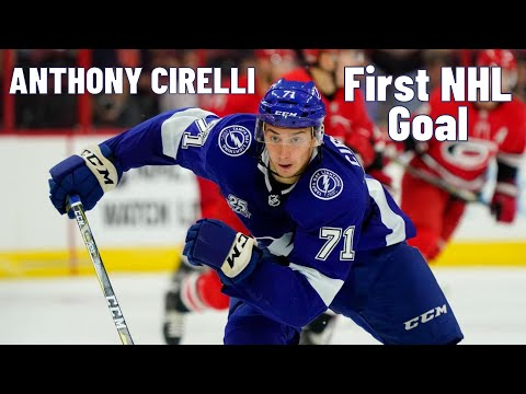 Anthony Cirelli #71 (Tampa Bay Lightning) first NHL goal 01.03.2018