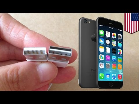 Apple iPhone 6 rumored reversible Lightning USB cable connects headphones
