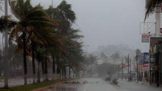 Mexico Hurricane Patricia LIVE FOOTAGE Compilation 2015/10/24