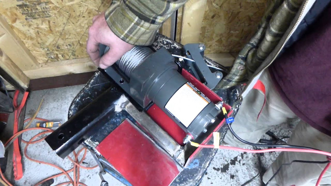 heavy duty 2` receiver for harbor freight badland 2500 lbs winch by  Chainsaws and generators